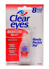 6 PACK OF CLEAR EYES  DROPS  REDNESS RELIEF 0.2 OZ.6 ML EXP(2020)UP TO 12 HOURS