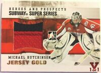2009-10 ITG Heroes & Prospects Subway SuperSeries Jersey Gold Michael Hutchinson