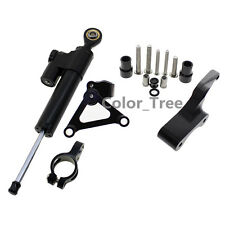 CNC Black Motorcycle Steering Damper Bracket Mount Kit For DUCATI 696 796 795