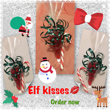 Christmas Elf Kiss Cones. Pre Filled sweet cone. Stocking Filler Teacher Gift