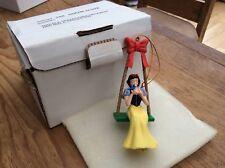 "Disney Plastic Grolier Xmas Tree Dec 'snow White' 4.5"" Boxed"