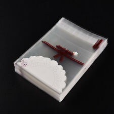 White lace Pastry Cookie DIY Gifts Self-Adhesive Plastic Cello OPP Bags 100 VJVJ