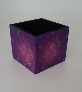 fortnight gaming purple cube  pencil /pen pot  desk tidy great gift
