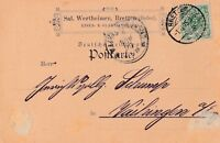 Postkarte verschickt von Bretten nach Vaihingen aus dem Jahr 1895