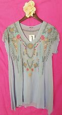 JWC l large periwinkle KARINEH TUNIC lilac JWLA Johnny Was nwt new collection