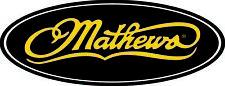 """Mathews decal Die cut 16 inches wide 6"""" tall"""