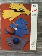 Emu Knitting Pattern: Family Gloves, DK/4ply, 2493