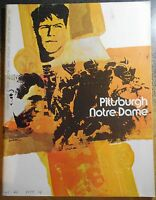 Notre Dame 1970 Football Program & Ticket Stub vs Pittsburgh 11/7/70