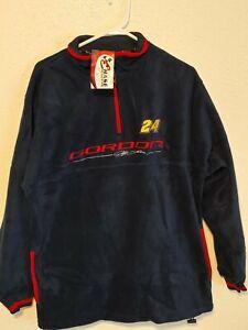 Vintage 90s Nascar Jeff Gordon Chase Quarter Zip Mens M Fleece Pullover. New