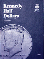 Whitman Kennedy Half Dollar Coin Folder Book #1 1964-1985 #9699