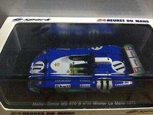 1/43 Spark Miniatures Matra MS 670 B Winner Le Mans 1973