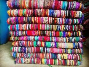 Indian Handmade Chindi Rug Floor Hand-Woven Yoga Mat Area Rugs Carpet 3x6 Feet