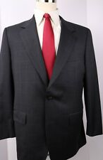 Isaia for Brooks Brothers Gray Check Wool Two Button Suit Size 42 R 36 30 Pants