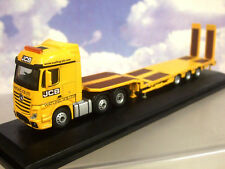 OXFORD 1/76 MERCEDES ACTROS & NOTEBOOM 3-AXLE LOW LOADER WATLING JCB LTD 76MB010