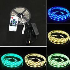 LED Stripe 5050 SMD RGB Leiste Streifen Band Lichtband Fernbedienung Netzteil 5m