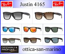Ray-Ban Justin RB4165 622/T3 54-16 Occhiali da Sole Polarizzato - Nero/Grigio