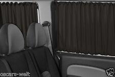 VW T5 T6 MAß GARDINEN VORHÄNGE TRANSPORTER CARAVELLE MULTIVAN SCHWARZ PR89