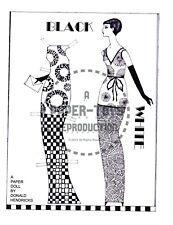 Reprint - Black And White Art Deco Paper Doll - Donald Hendricks