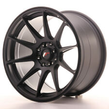 "Un Cerchio in Lega Japan Racing JR11 17"" x 9.75"" ET30 5x100 /114.3 Nero Pastello"