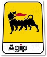 """Agip"" Gas Oil Station Metal Decor Garage Shop Sign"
