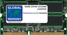 64MB DRAM SODIMM JUNIPER M5/M7/M7i/M10/M10i/M71 FORWARDING ENGINE (MEM-FEB-64-S)