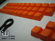Orange color 37 Keycaps with Orange text on top for Cherry MX Series keyboard