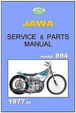 JAWA ESO Workshop & Parts Manual Speedway 894 4V 1977 on Service Repair 895
