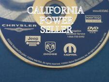 chrysler jeep mopar dodge not latest update dvd gps / teezster1