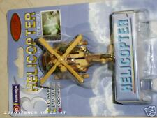 Army style Helicopter Air Freshener w/rotating propeler