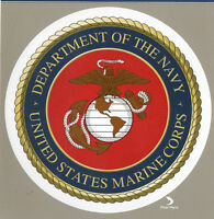 """U.S. Navy Marines Decal Bumper Sticker Gifts Service Armed Forces Insignia 5"""""""