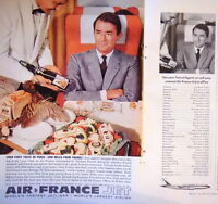 PUBLICITÉ AIR FRANCE JET YOUR FIRST OF PARIS 3000 MILES FROM FRANCE GREGORY PECK