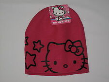 NWT HELLO KITTY knit hat Girl ONE SIZE FITS MOST (3-16?) hot pink