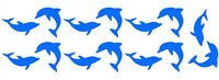 DOLPHINS x14 Vinyl Kitchen/Bathroom/Bedroom Tile/Wall/Door/Glass Stickers/Decals