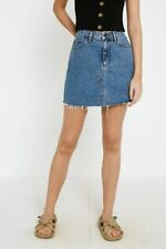 Urban Outfitters BDG Vintage Blue Notched Denim Mini Skirt, Blue, Small