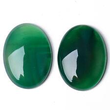 4 x Verde Onice Piatta 8 x 10mm Ovale 3.5mm Thick Cabochon CA17392-2
