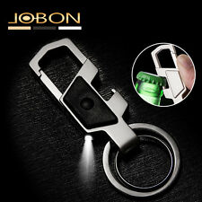 Mens Fashion Multifunction LED Metal Dual Rings Car Keyring Keychain Opener Gift