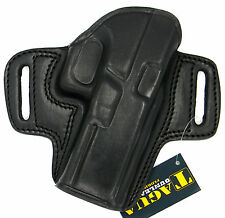TAGUA BLACK LEATHER OPEN TOP OWB BELT HOLSTER - BERETTA PX4 STORM 4""