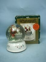 Pfaltzgraff Winterbury Musical Snow Globe MIB 2001  - 4th In Series