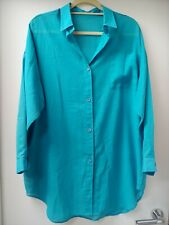 Vintage Floaty Blue Shirt From St Michael Size 14-16