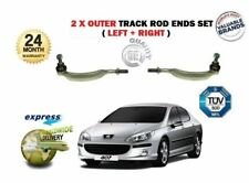 FOR PEUGEOT 407 2004->NEW 2x OUTER LEFT + RIGHT STEERING TRACK RACK TIE ROD ENDS