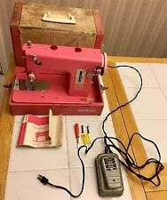 Rare Vintage PINK Model 11 Sears KENMORE Sewing Machine W/Original Case & Manual