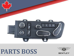 Bentley Continental OEM Seat Adjustment Switch Front Left 3W7959765B