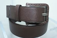 New Prada Men's Brown Belt Cinture Size 42 105 Leather Signature Buckle