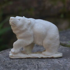 Bear Carving 63mm Length T300 in Moose Antler Hand Carved