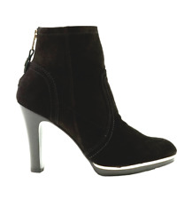 TORY BURCH 'Melrose' Leather Bootie sz 8 Black Suede Ankle Boots *227