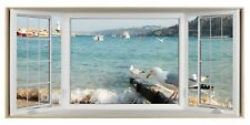 St.Ives Cornwall Seagulls 3D Effect Bay Window Canvas Picture Wall Art Prints