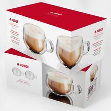 Judge JDG30 Set of 2 Double Walled Cappuccino Glasses 225 Mils