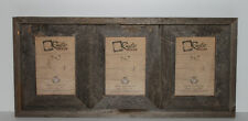 """5x7-2.5"""" Wide Reclaimed Rustic Barn Wood Collage Photo Frame - Holds 3 Photos"""