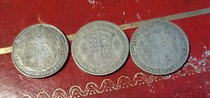 3 X Half Crowns 1927, 1928, 1921