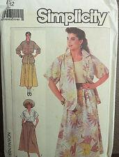 Vintage  Simplicity 7859 Women's Dress Patterns Size 12  ( 1986 )